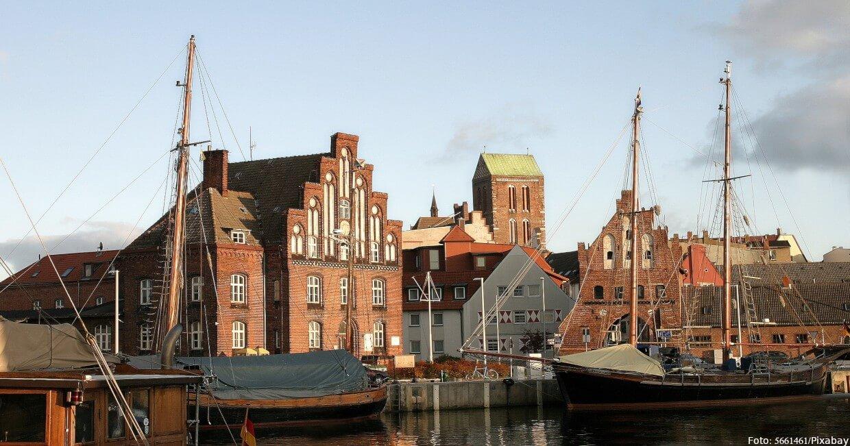 Hafenkulisse in Wismar