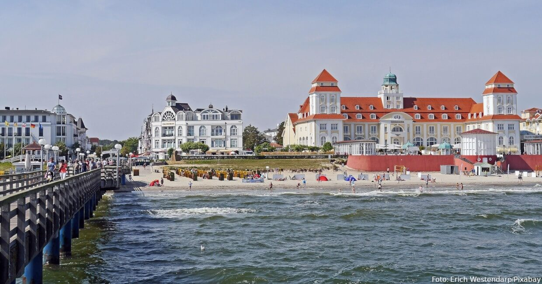 Binz: Seebrücke und Kurhaus