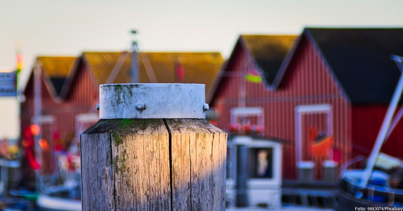 Skandinavien-Feeling im Hafen von Boltenhagen