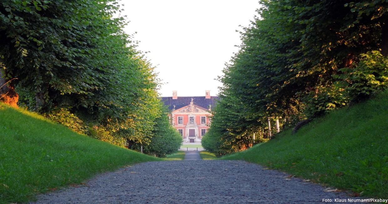 Eine der schönsten Alleen Mecklenburg-Vorpommerns: Festonallee beim Schloss Bothmer