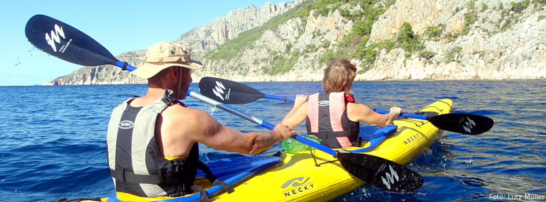 Kajaktouren auf dem Mittelmeer in Süd-Europa