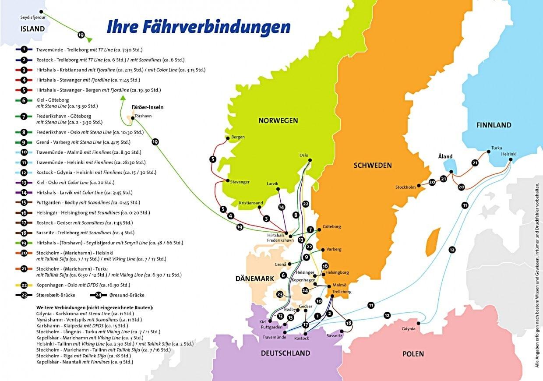 Briefe Von Norwegen Nach Deutschland : Günstige fähren skandinavien norwegen dänemark schweden