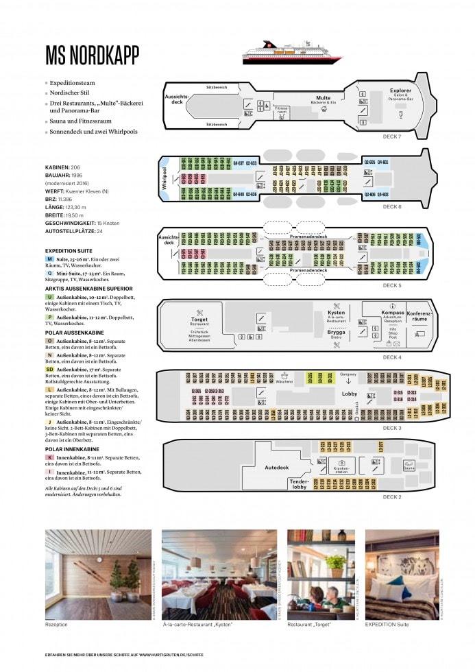 Decksplan MS Nordkapp