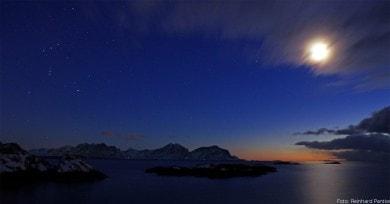 Polarnacht in Nord-Norwegen