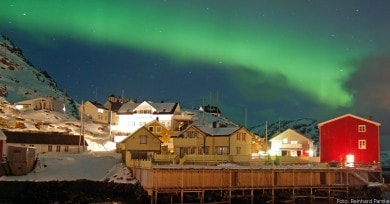 Nordlichter über Nyksund