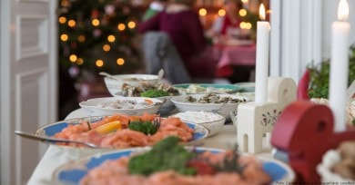 "Traditionelles ""Julbord"""
