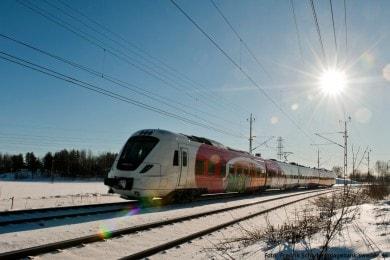 Zugfahren in Schweden