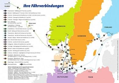 Fährüberfahrten von Deutschland nach Dänemark, Finnland, Island, Norwegen und Schweden