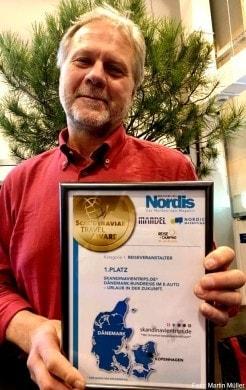 Skandinavientrips.de gewinnt den 1. Preis beim Scandinavian Travel Award 2019 (Foto: Martin Müller)