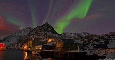 In sternenklaren Nächten kann man Polarlichter beobachten