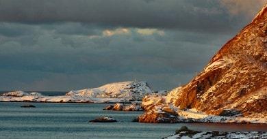 Nyksund liegt auf der Inselgruppe Vesterålen